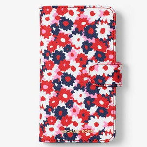 Michael Kors Red Floral Folio Case iPhone X